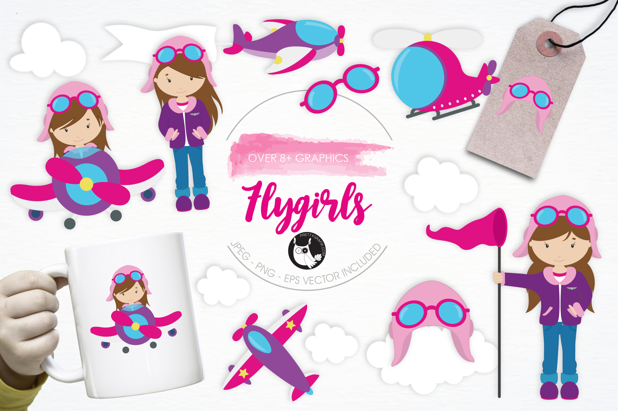 Flygirls graphics and illustrations example image 1