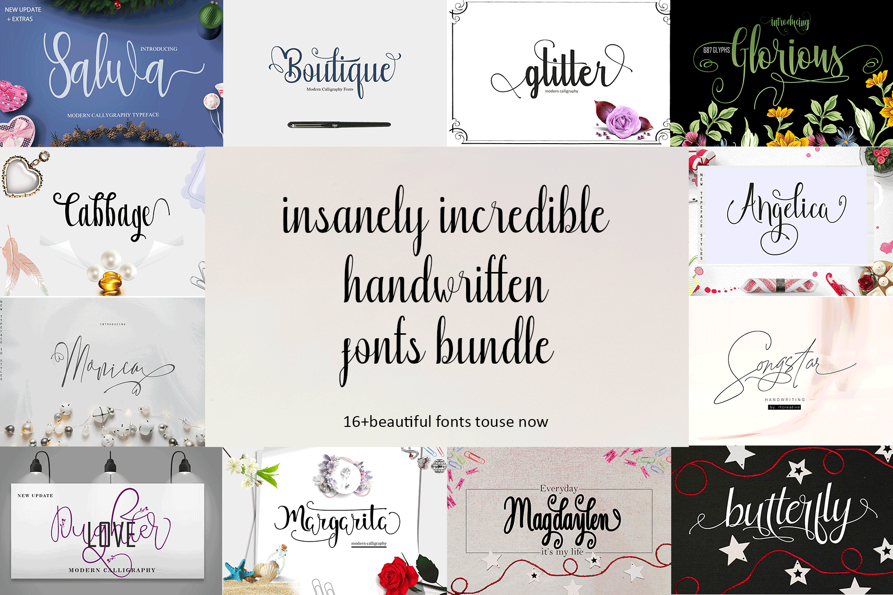 20 Incredible Handwritten Fonts example image 2