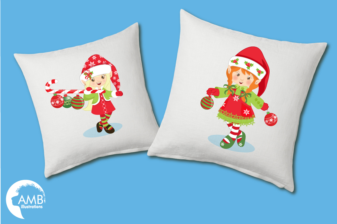 Christmas elves clipart, graphics, illustrations AMB-195 example image 4