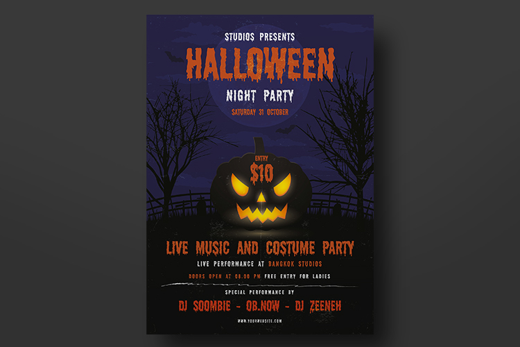Halloween Flyer Template example image 3