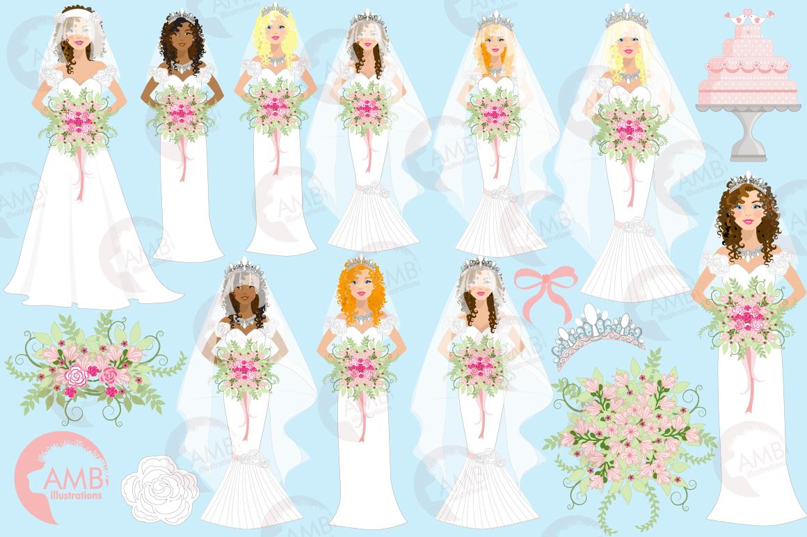 Wedding Bride cliparts AMB-937 example image 4