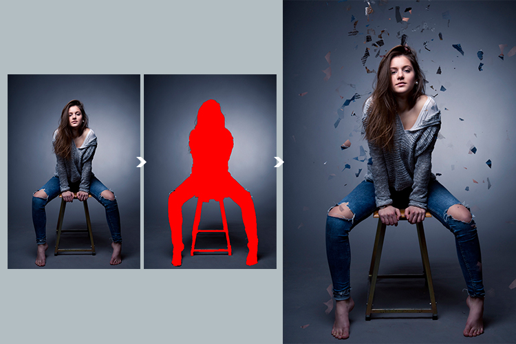 Broken Dispersion Photoshop Action example image 7