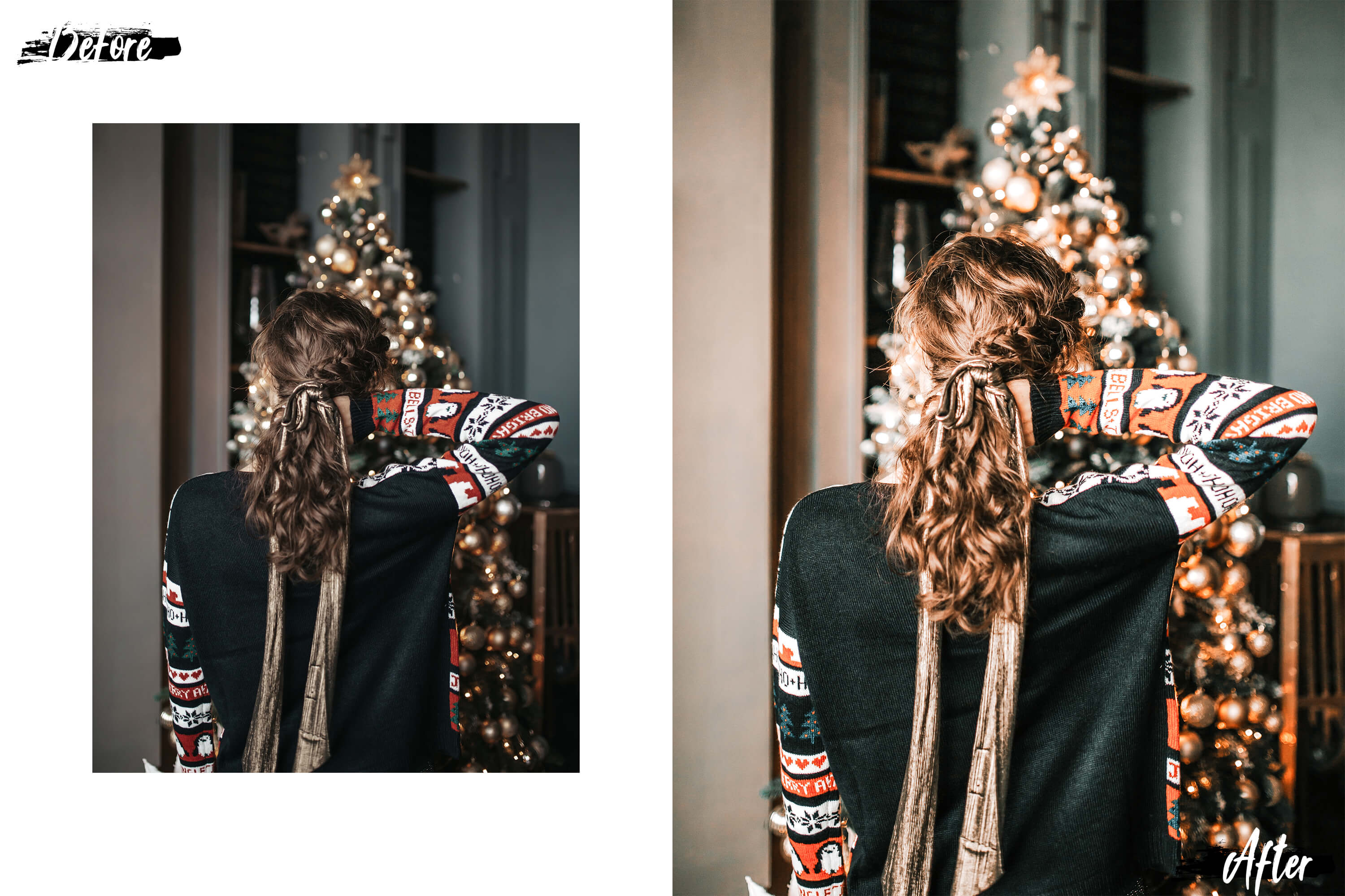 05 Christmas Eve Photoshop Actions, ACR and LUT presets example image 4