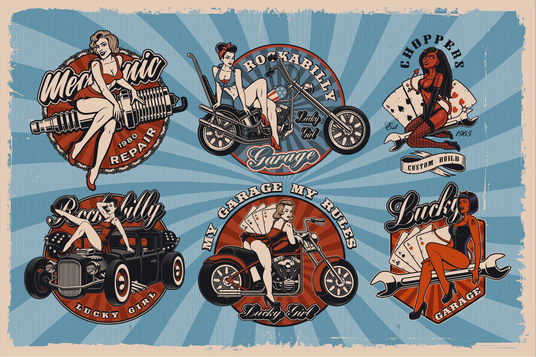 Pin Up Girls Bundle example image 2