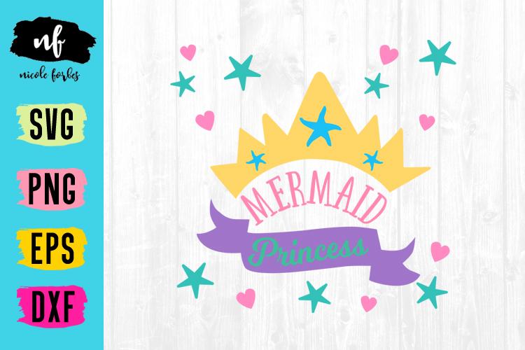 Mermaid SVG Cut File Bundle example image 4