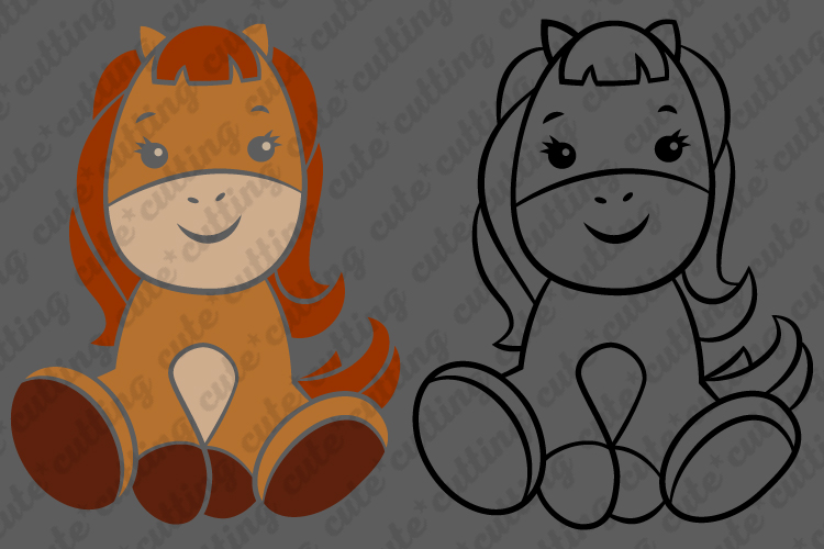Horse svg, Baby horse svg, cutting file svg, dxf, png, jpeg example image 2