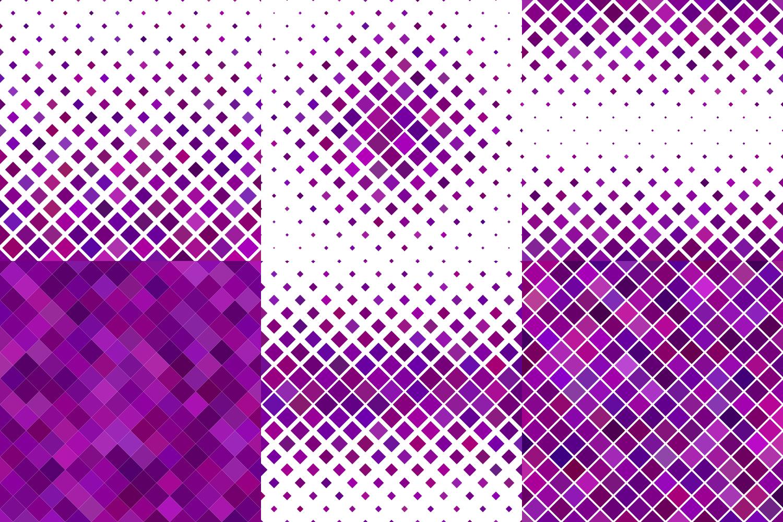 24 Purple Square Patterns AI, EPS, JPG 5000x5000 example image 3