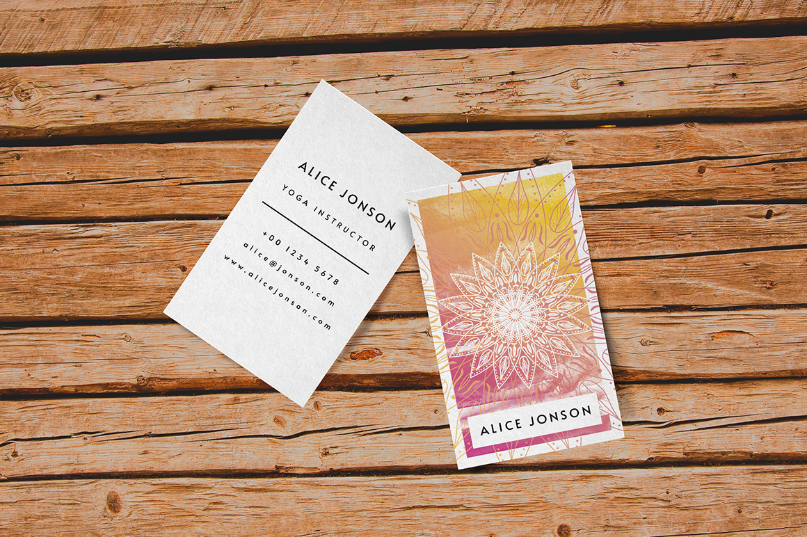 Mandala Business Card Template example image 2
