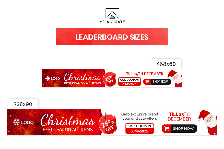 Christmas Sale Animated Ad Banner Template example image 4