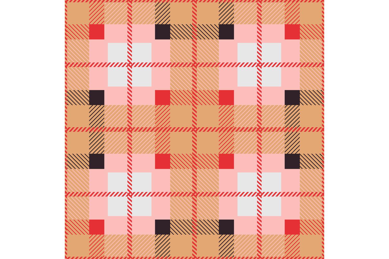Tartan texture. Set of 10 seamless patterns. example image 6
