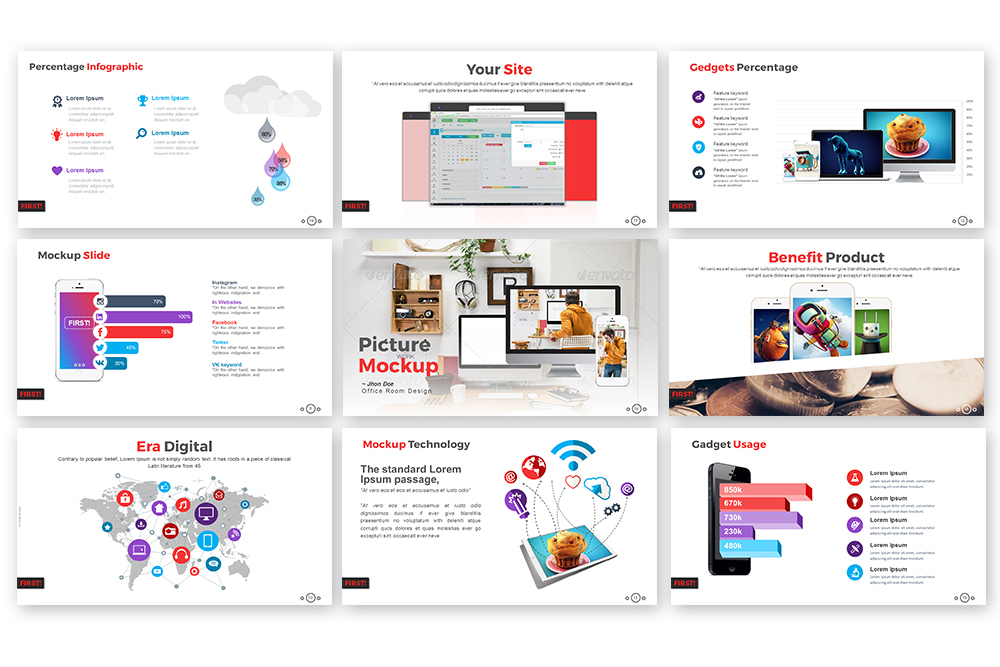 First Powerpoint Template example image 2