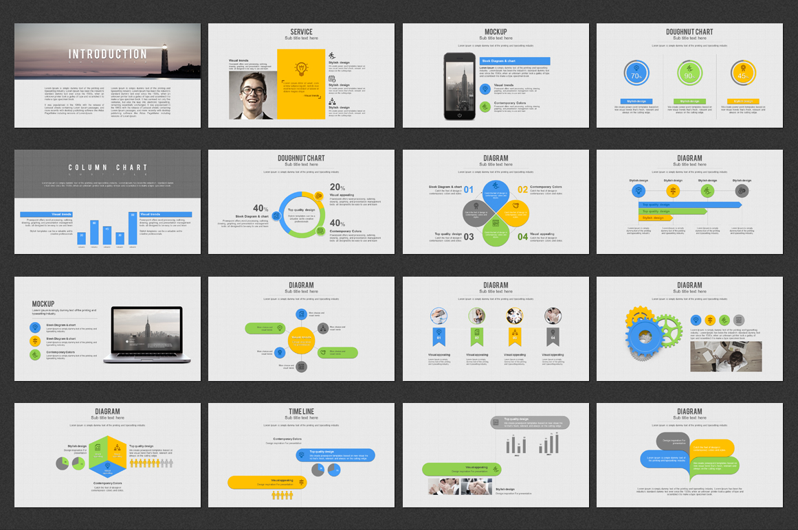 Grid PowerPoint Template example image 2