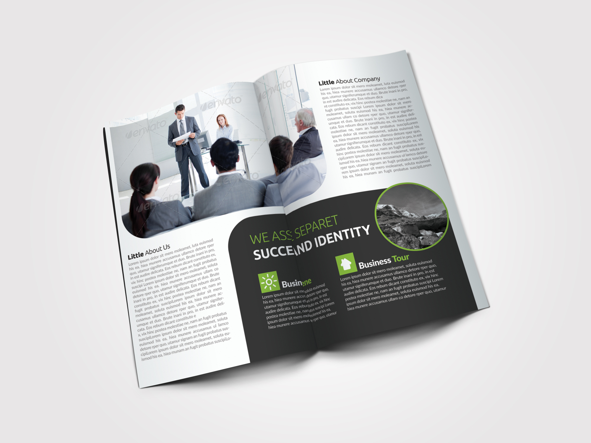 Clean Business Bifold Brochure example image 4