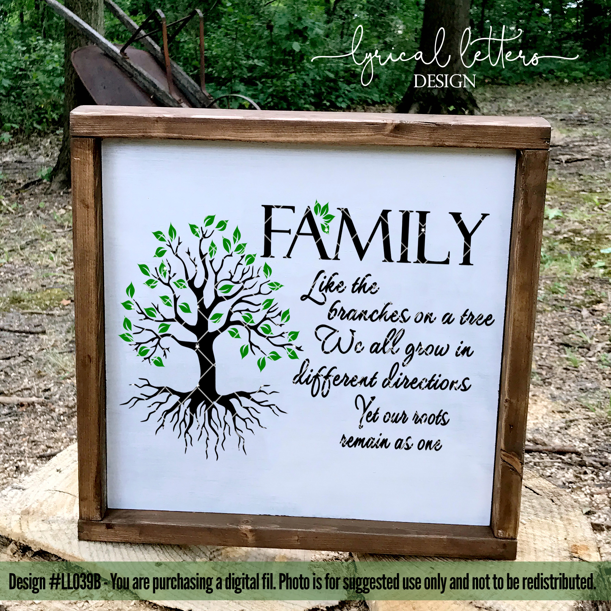 Family Like the Branches on a Tree SVG Cut File LL039B example image 3