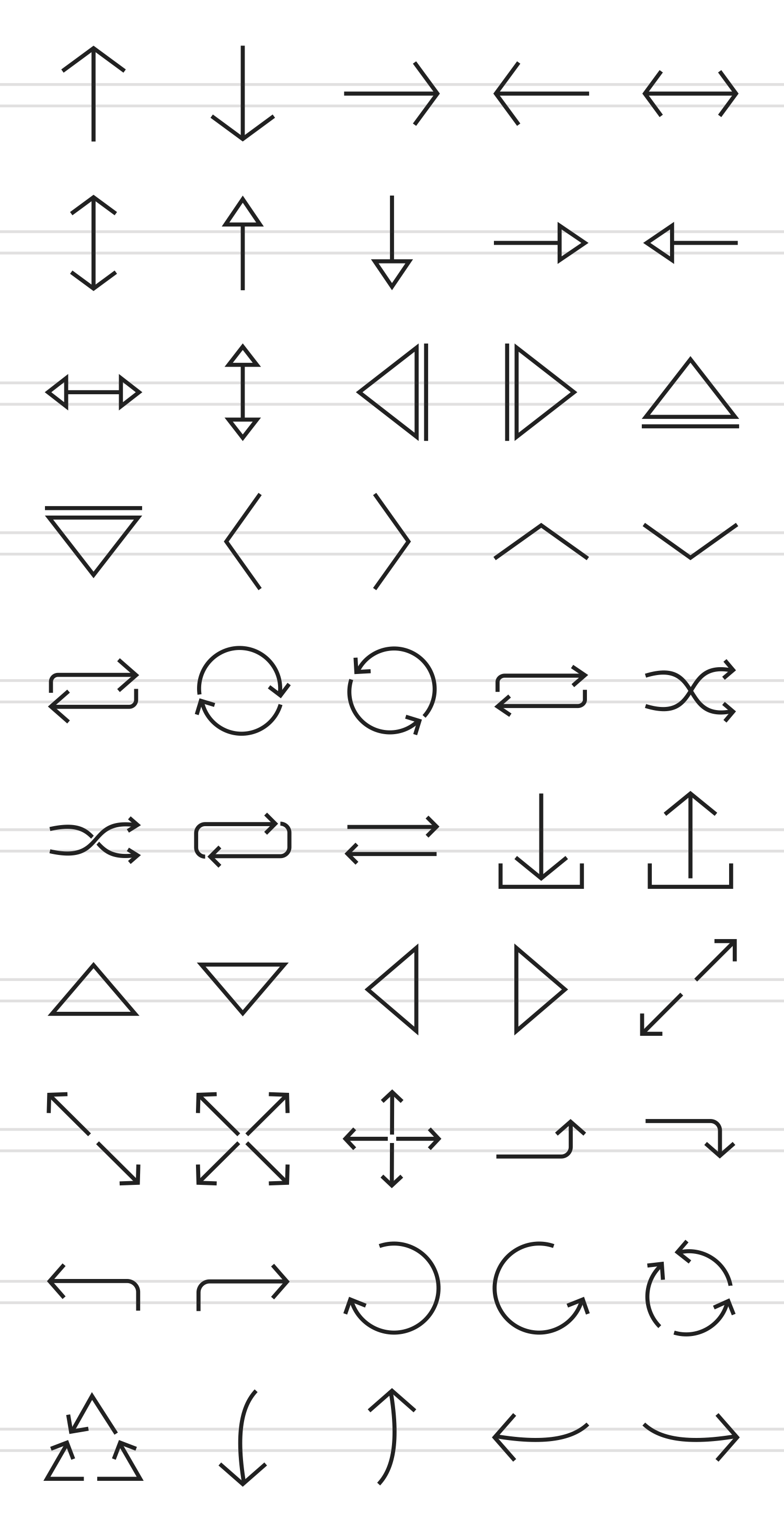 50 Arrows Line Icons example image 2