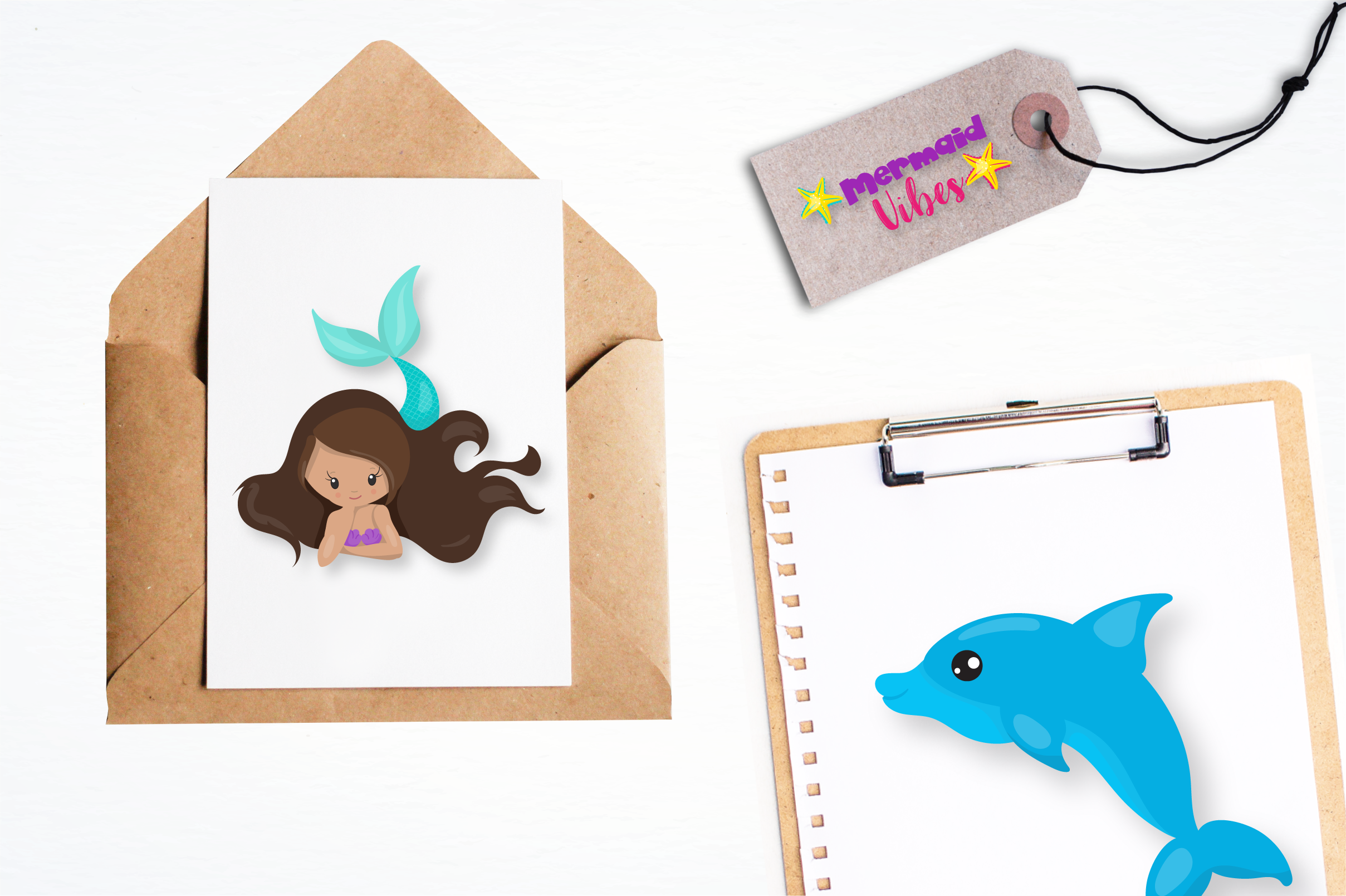 mermaid vibes graphics and illustrations example image 4