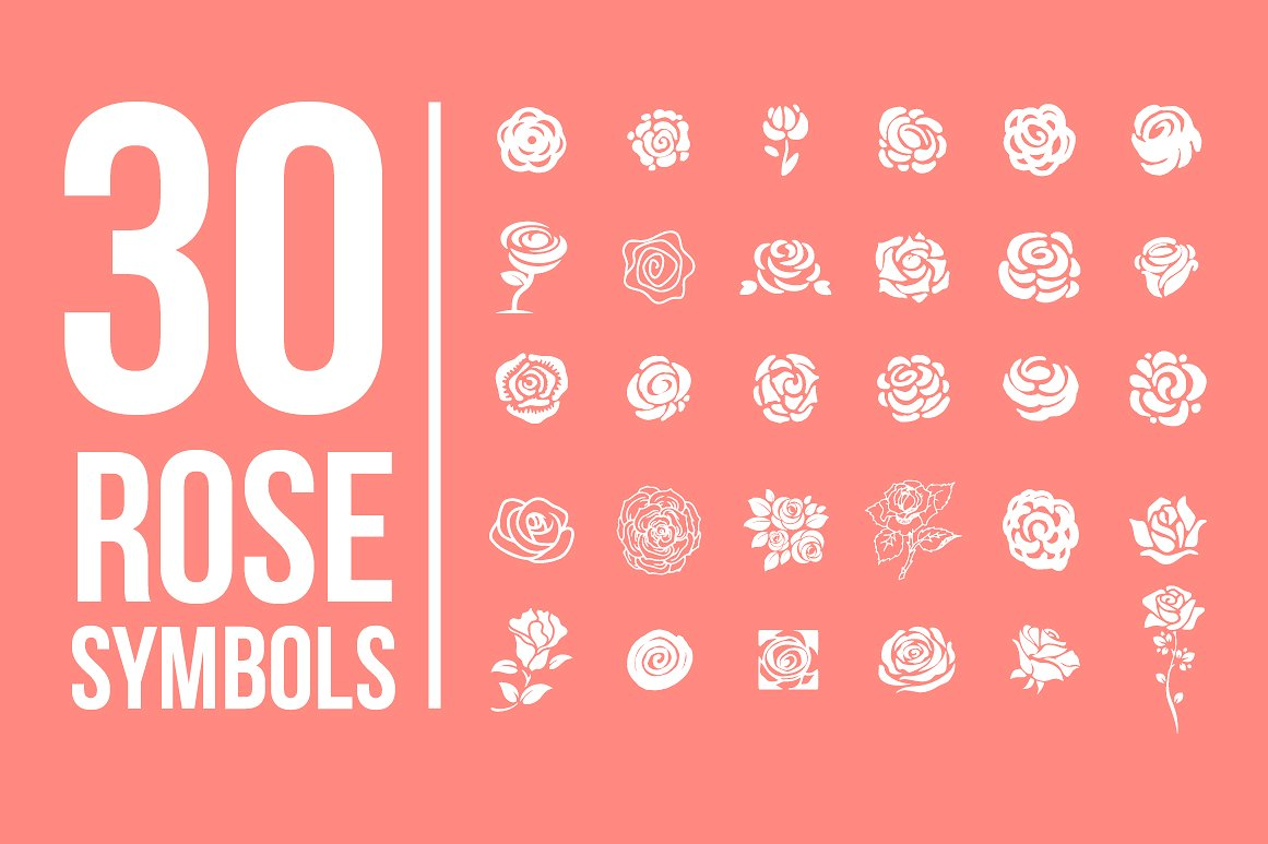 Pack of 77 decorative flower symbols example image 3