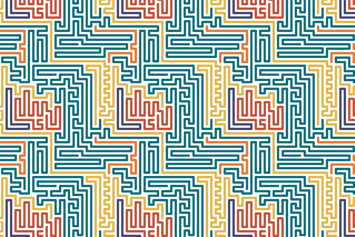 Colorful seamless striped patterns. example image 14
