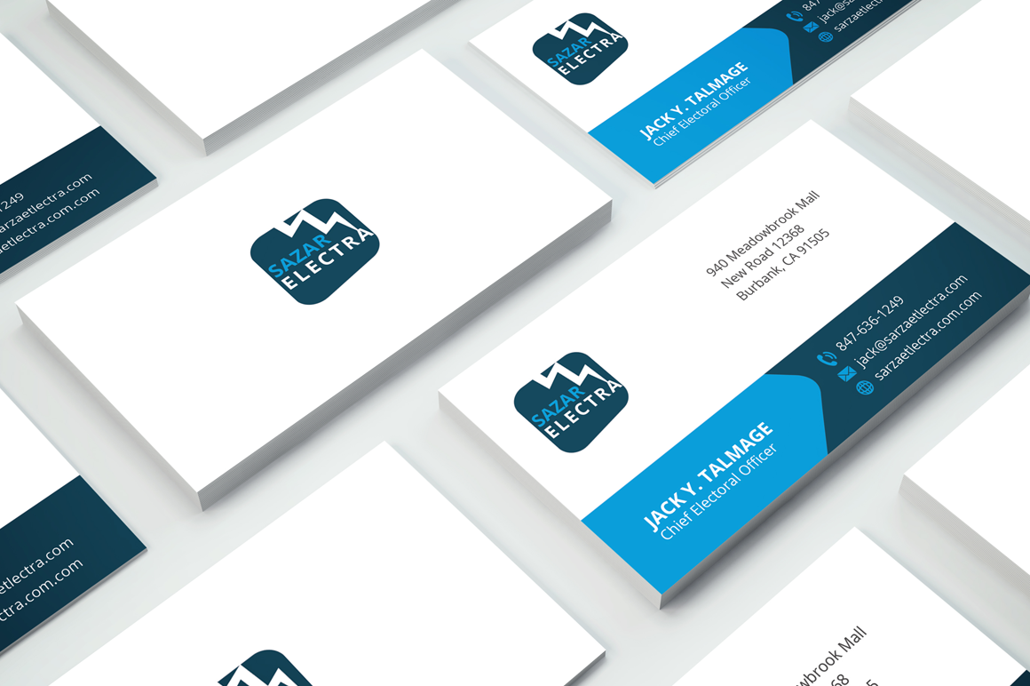 Clean Corporate Business Card example image 1