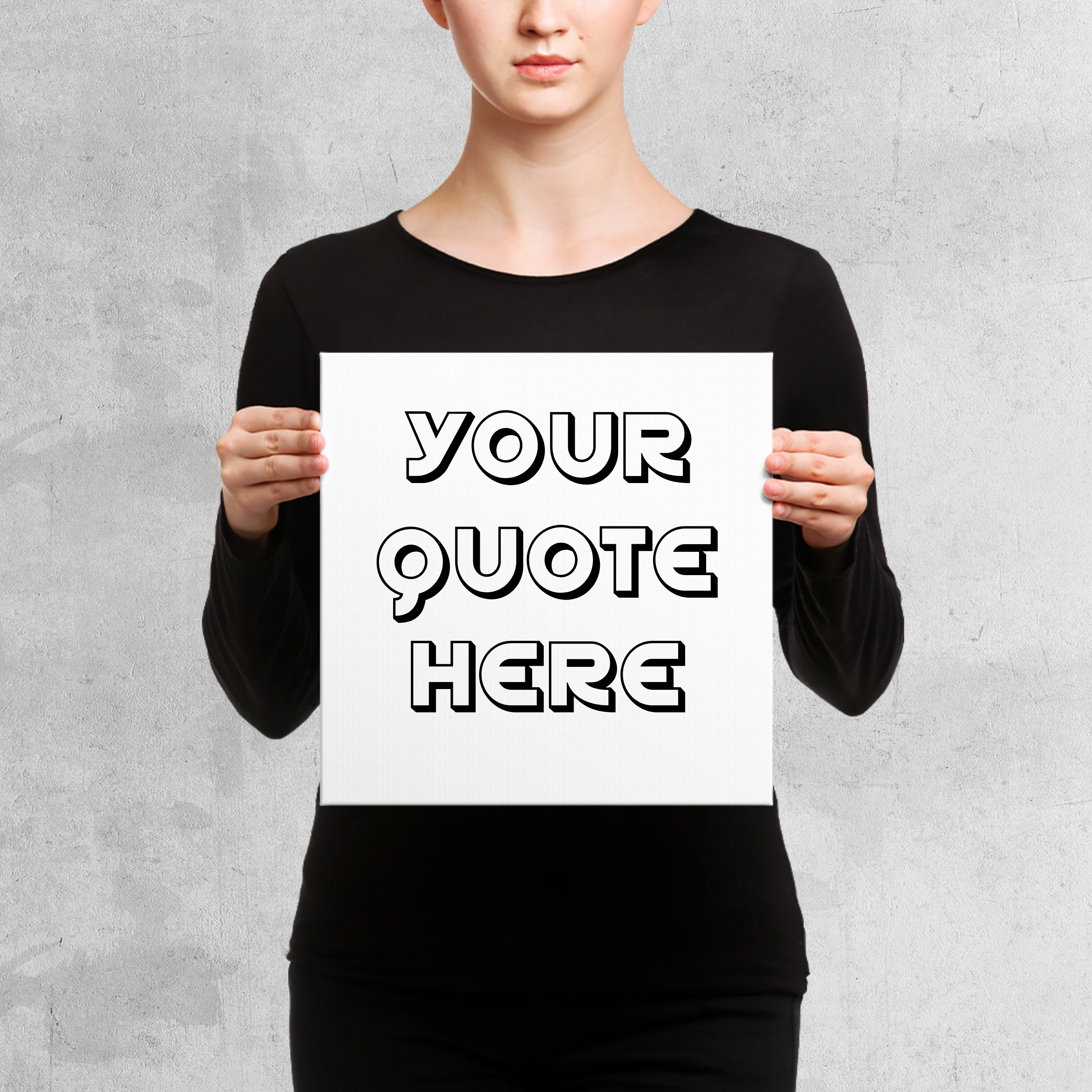 Women Holding Canvas Mockups-6 example image 2