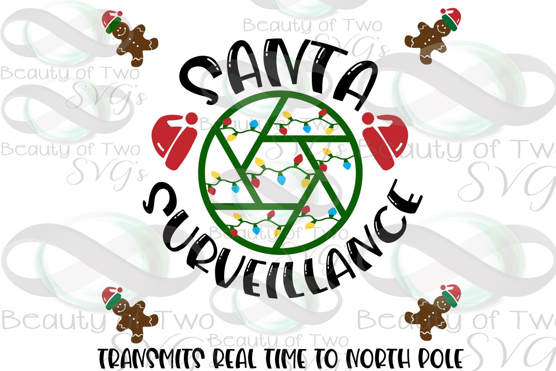 Santa Camera svg sign design cut file Santa svg Surveillance example image 3