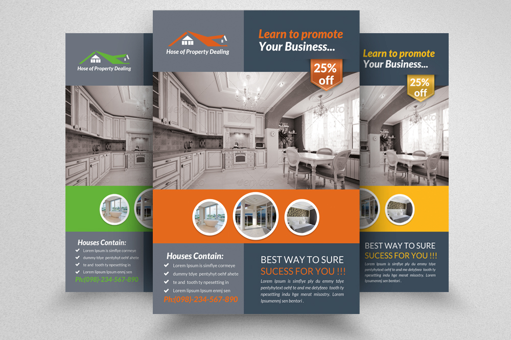 6 Real Estate Agency Flyers Bundle example image 3