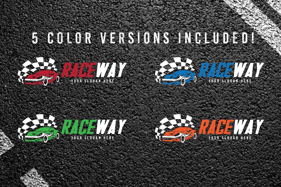 Auto Race Car Logo Template example image 2