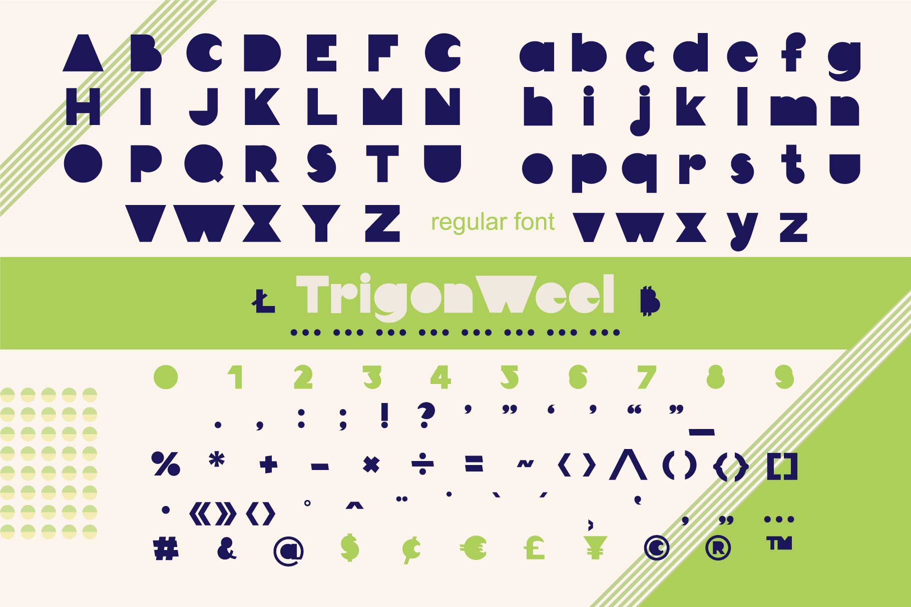 TrigonWeel color OTF font example image 7