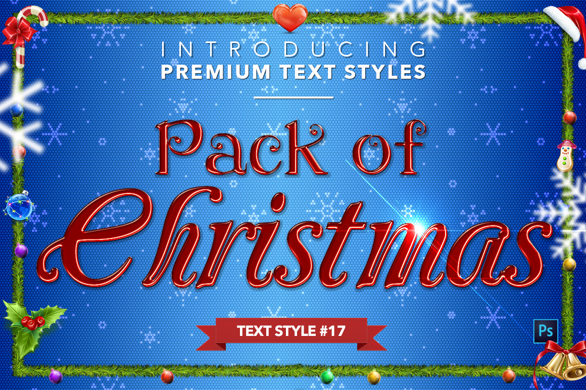 Christmas Pack #2 - 20 Text Styles example image 18