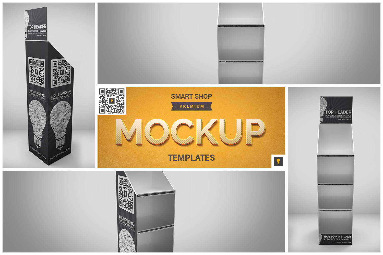 Promotional Store Shelf Stand Mockup example image 1