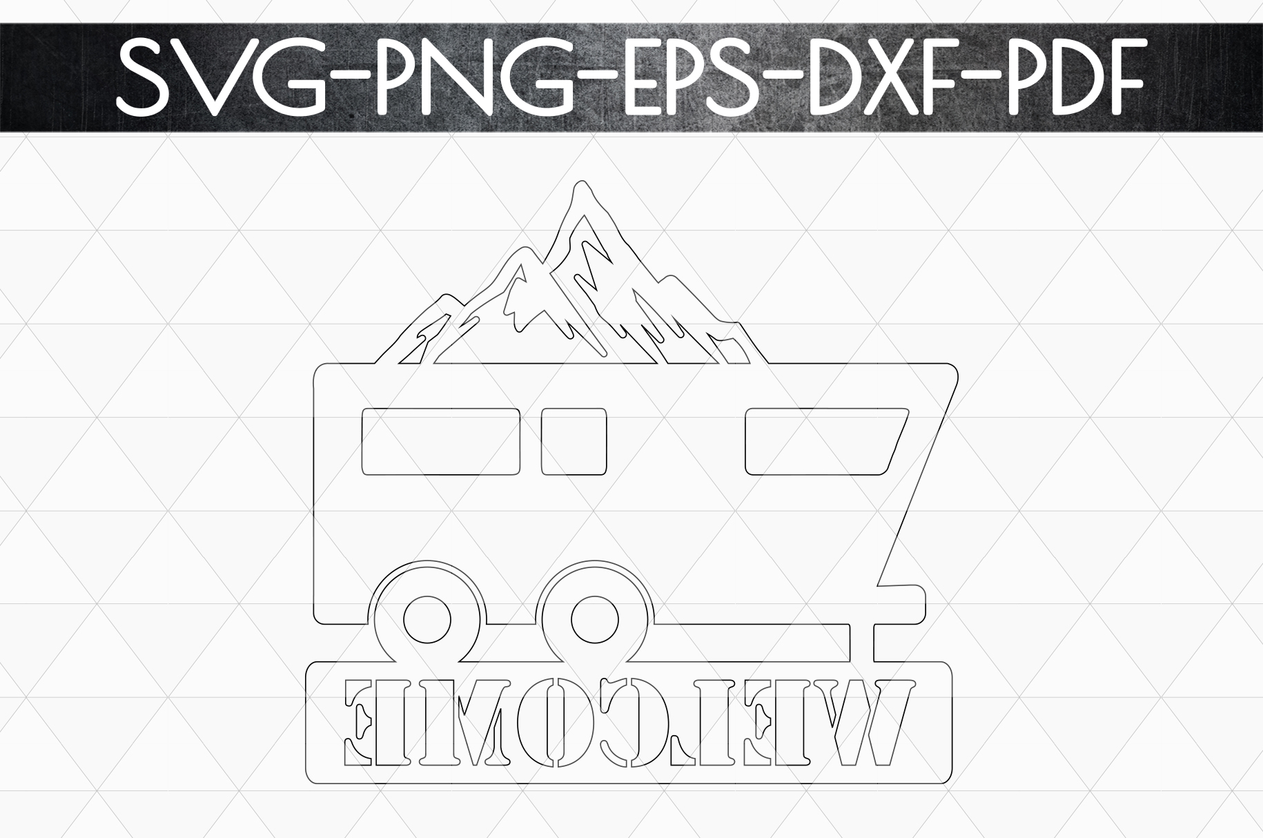 Welcome To Our Campsite Papercut Template, SVG, PDF, DXF example image 5
