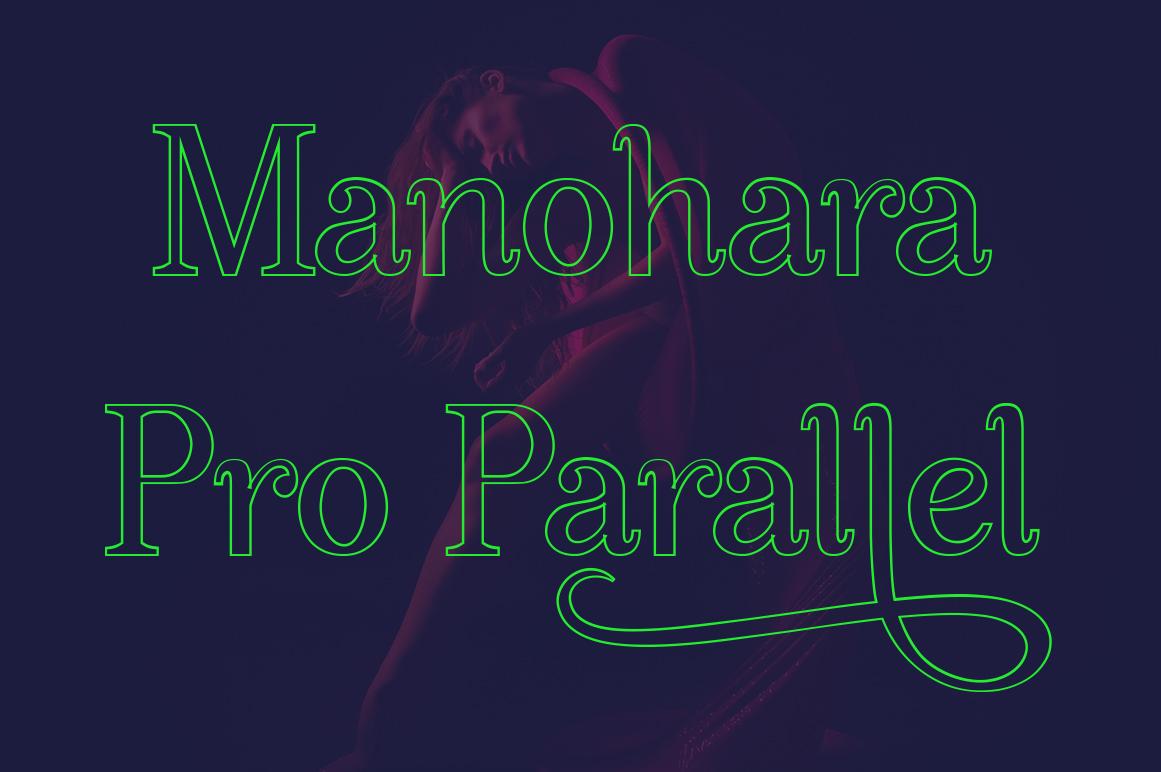 Manohara Pro Family example image 9