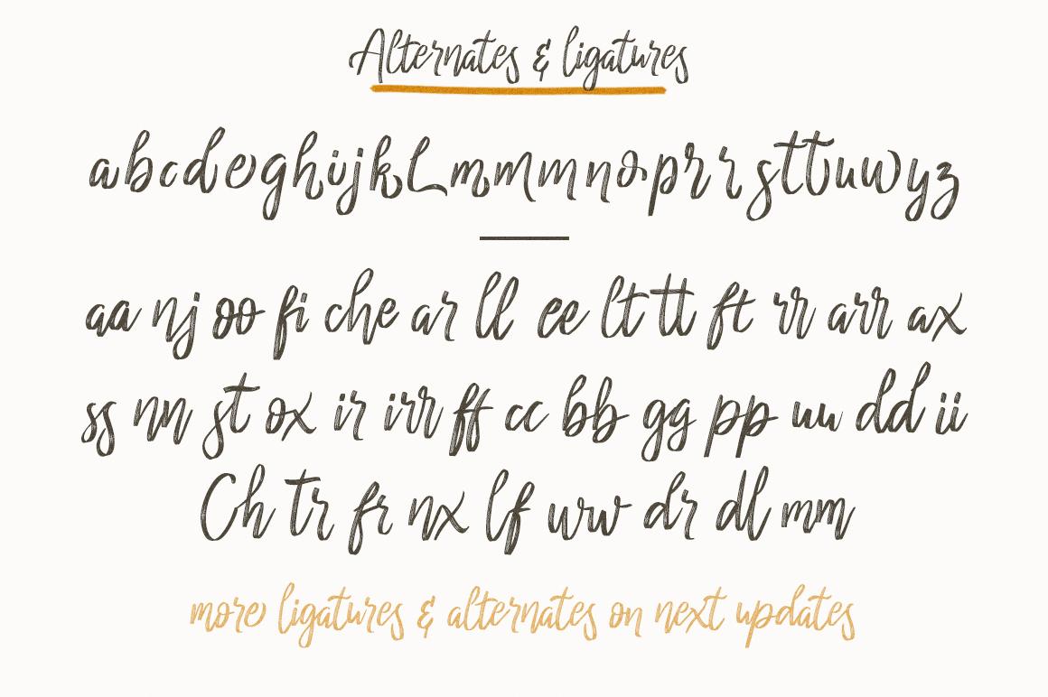 cherrio brush font example image 2