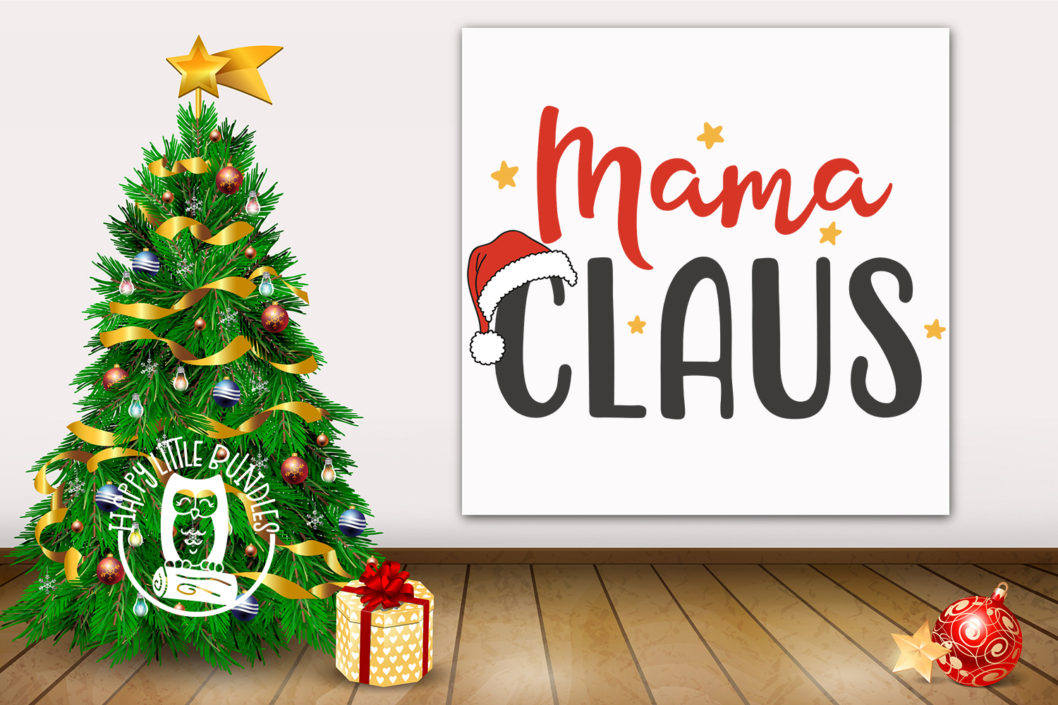 Mama Claus - Christmas SVG for mom mommy mother example image 2