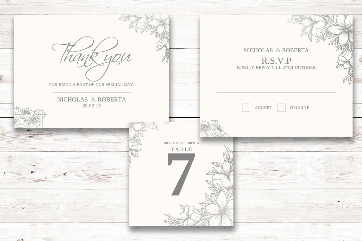 Soft Wedding Invitation Set example image 4