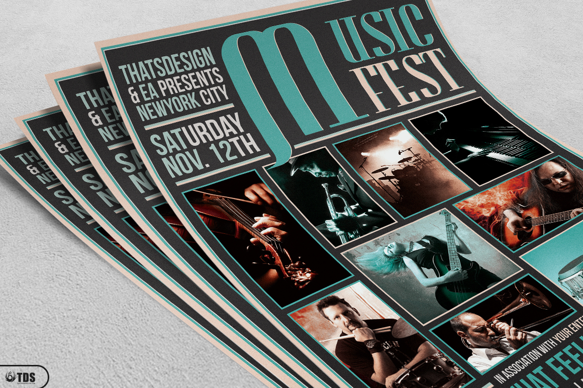 Music Festival Flyer Template V2 example image 3