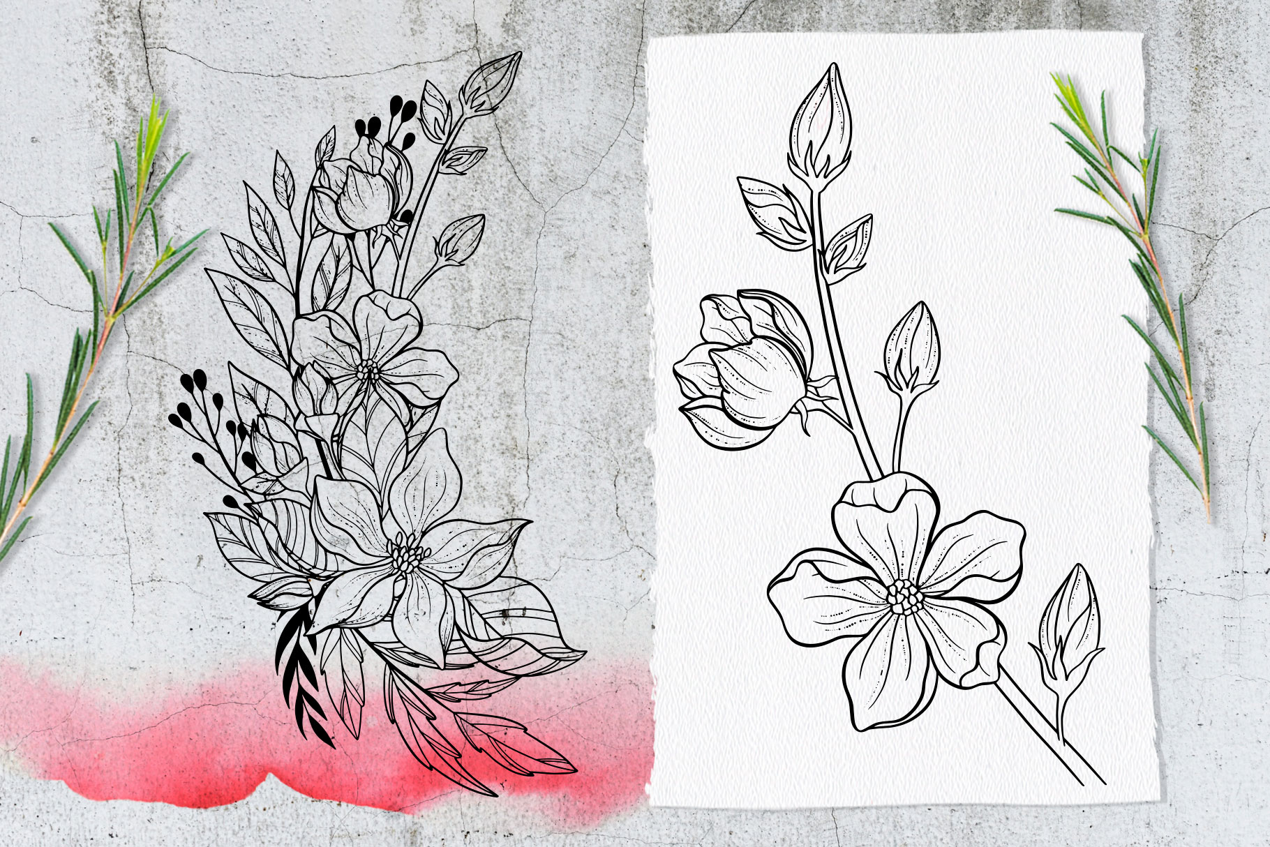 Japanese Blossom. Graphic Collection example image 10