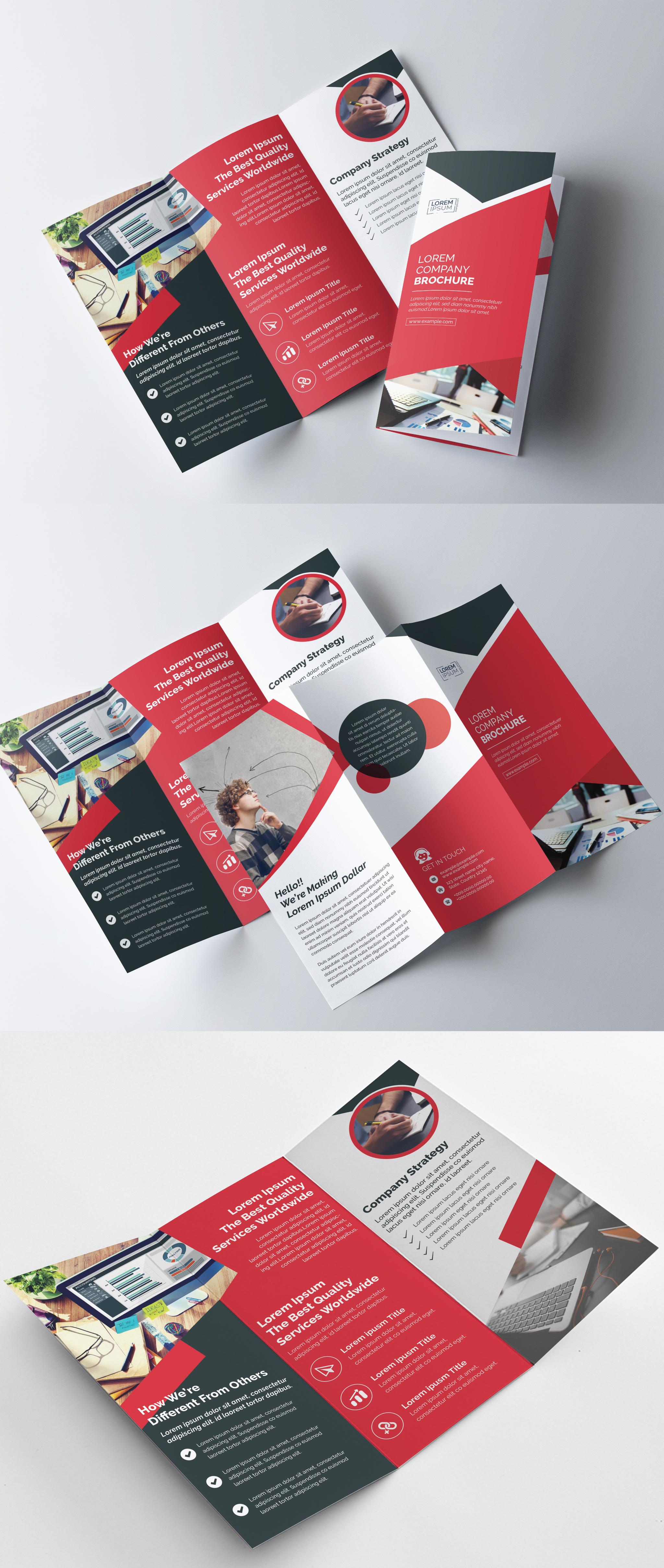 Corporate Tri Fold brochure example image 2