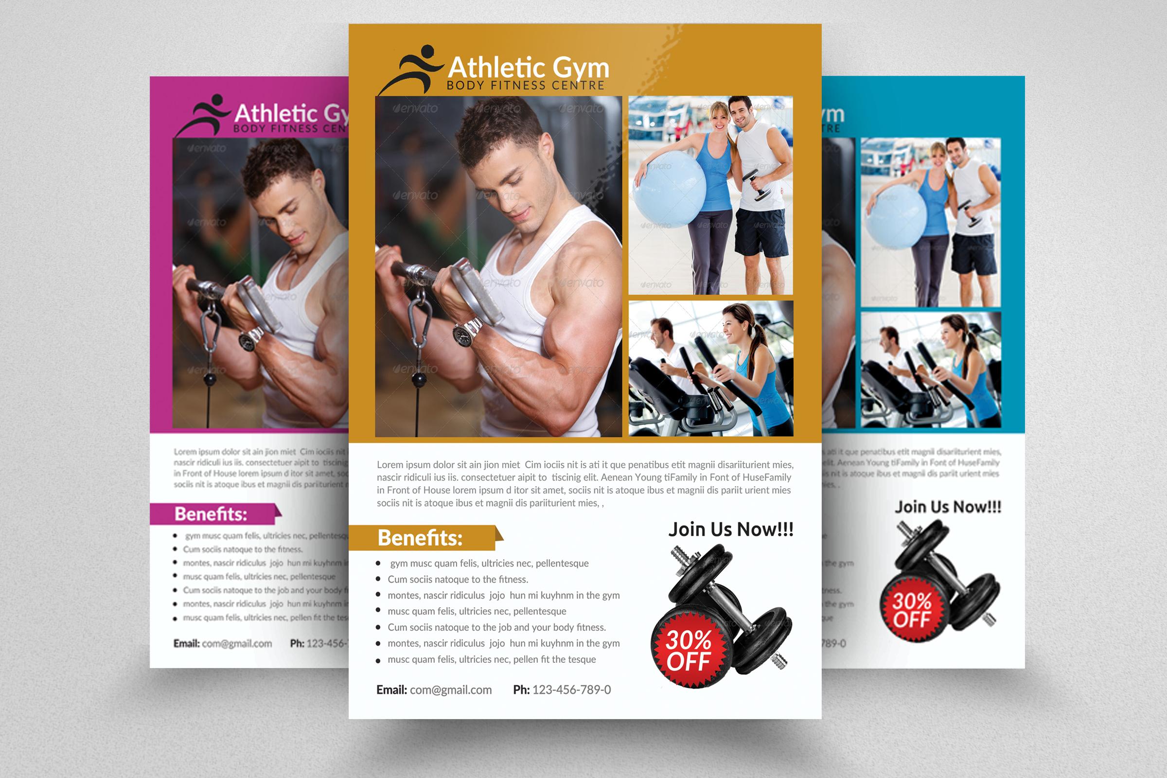 6 Body Fitness Gym Flyers Bundle example image 6