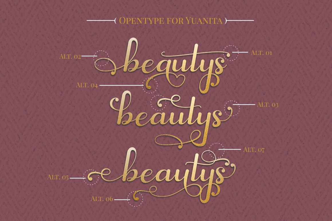 Yuanita - Modern Calligraphy Font example image 3