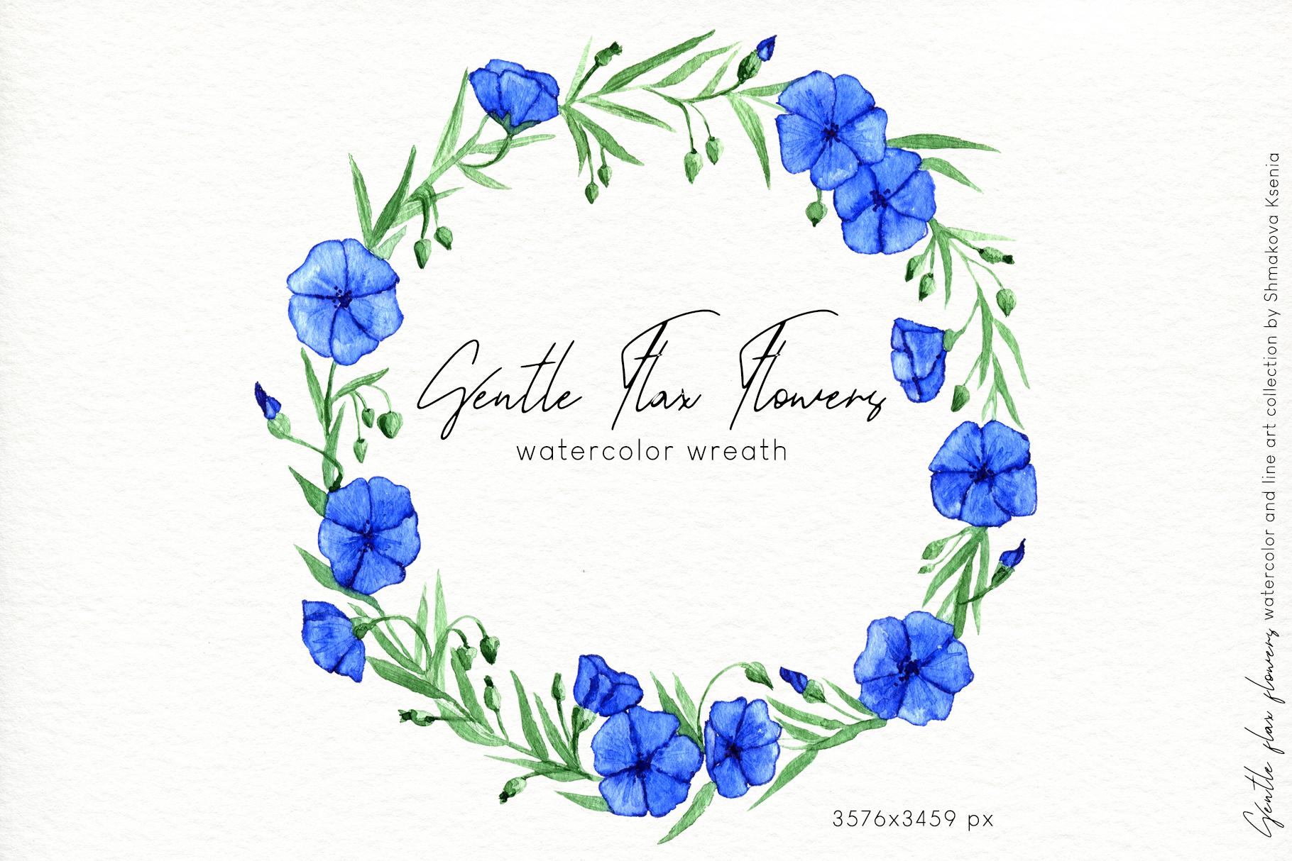 Gentle Flax Flowers example image 12