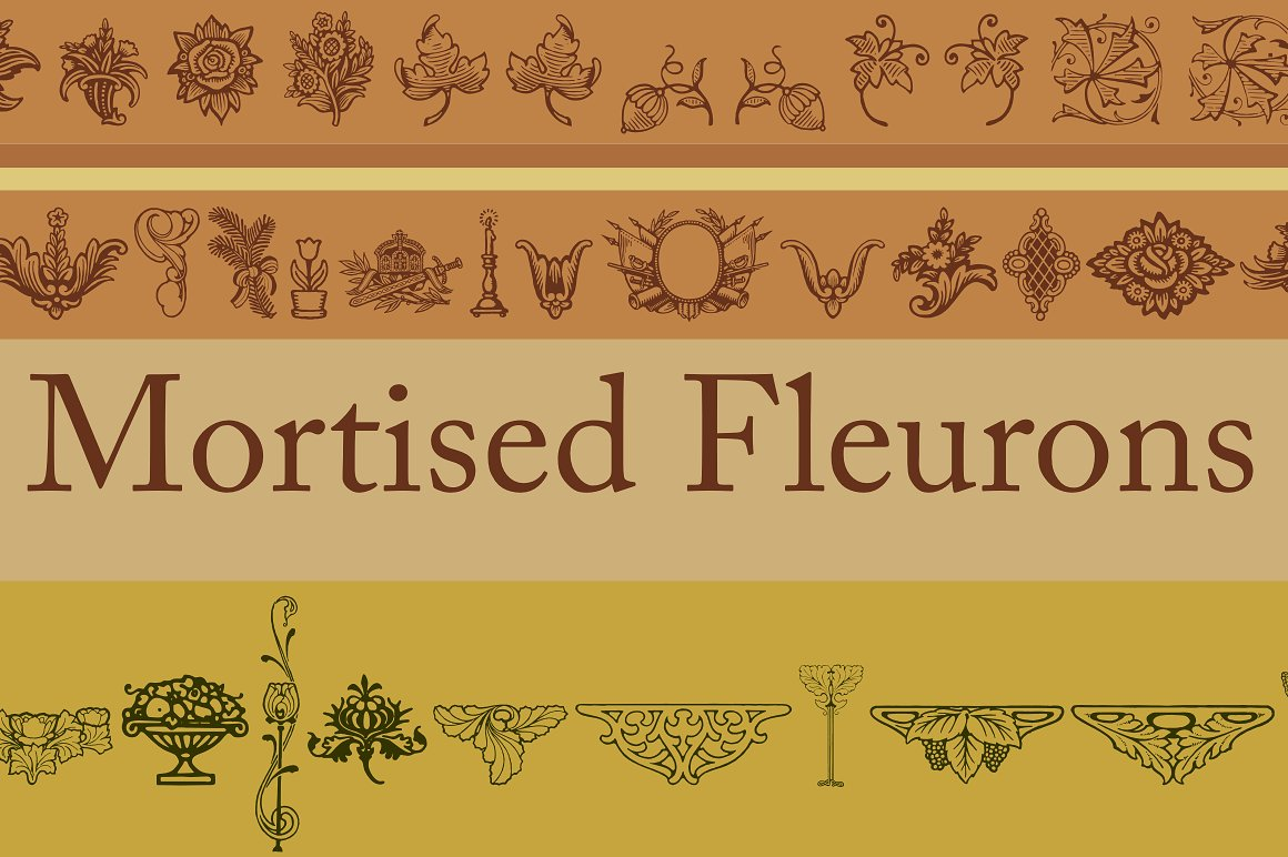 Mortised Fleurons example image 1
