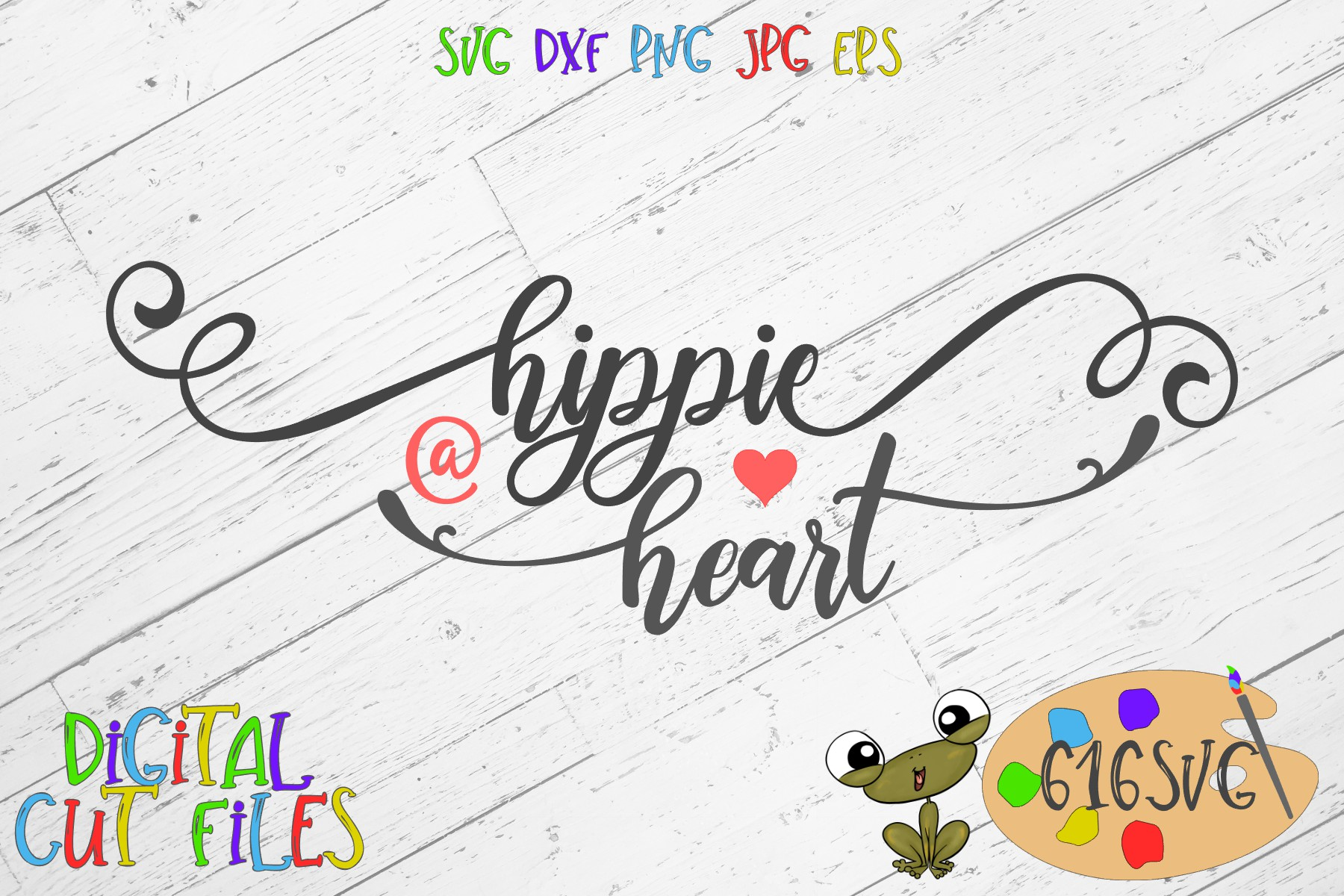 Hippie at Heart SVG example image 2