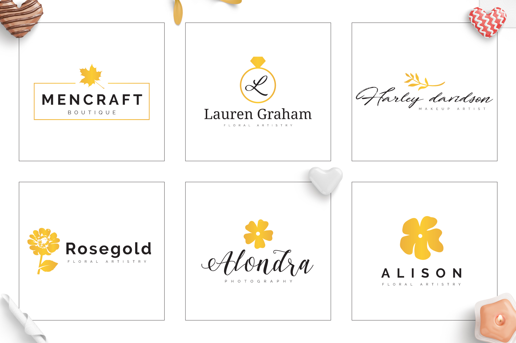 70 Elegant Floral Logo Bundle example image 5