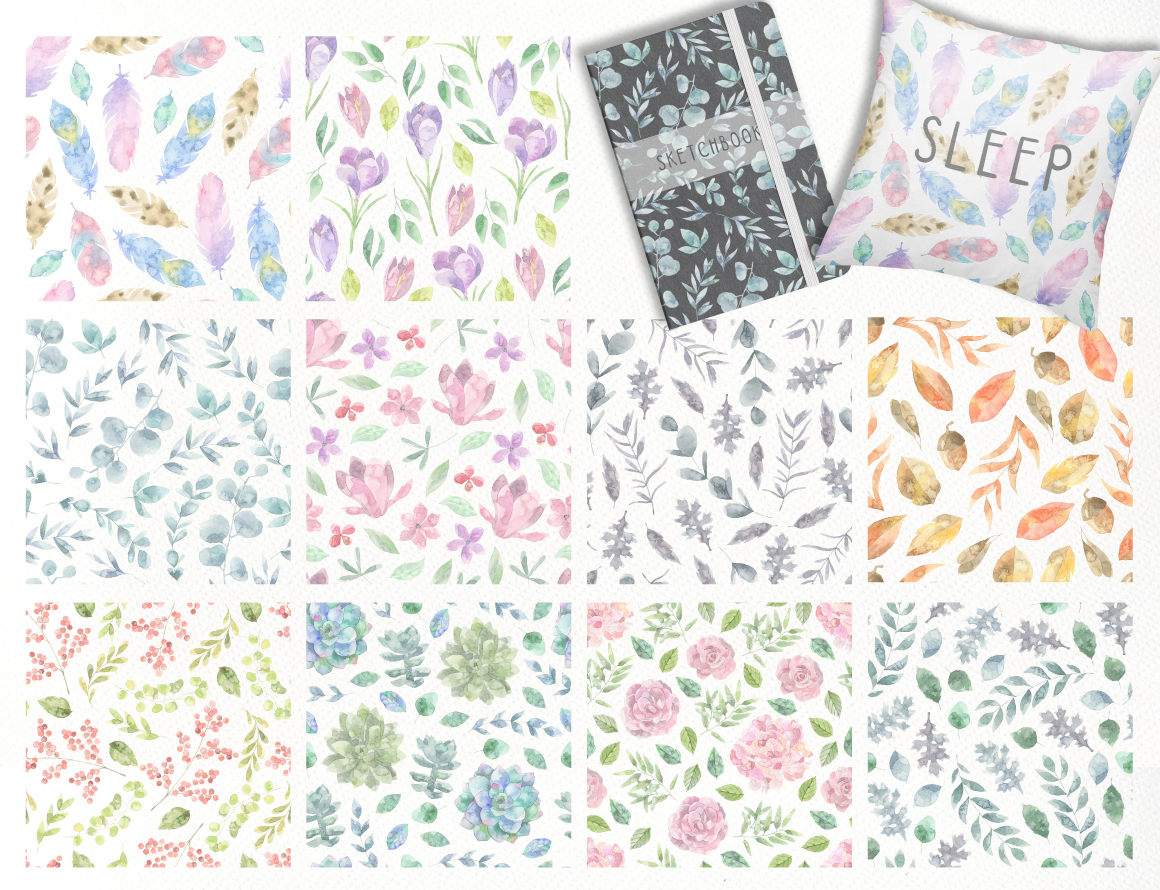 Floristic Watercolor Collection example image 2