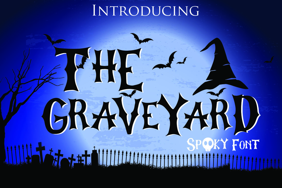 The Graveyard - Spooky Font example image 1