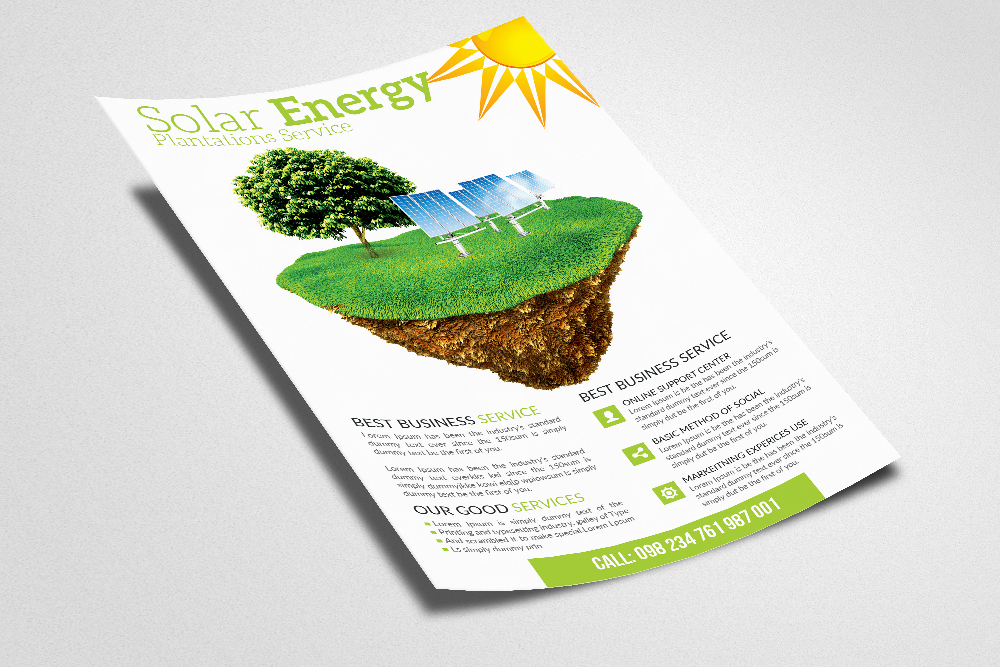 Green Energy Flyer Templates example image 2