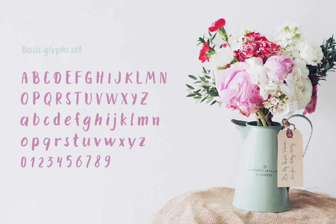 Dummy—handwritten font example image 4