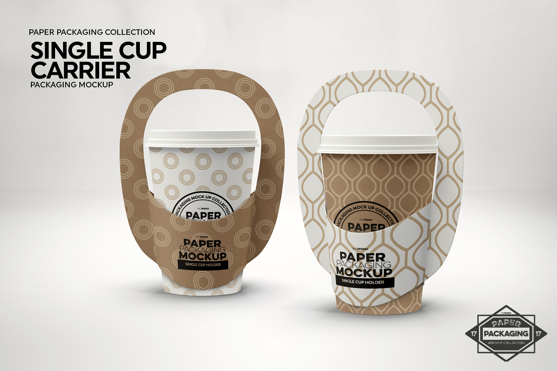 Single Cup Paper Carrier Packaging Mockup example image 6
