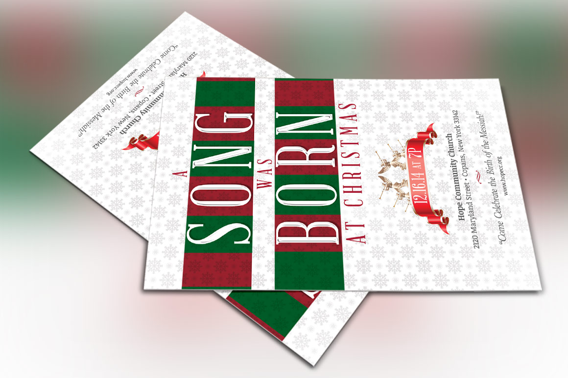 Christmas Musical Flyer Template example image 4